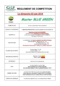 MASTER BLUE GREEN @ Golf de la Domangère | Nesmy | Pays de la Loire | France