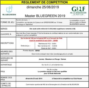 MASTER BLUEGREEN @ Golf de la Domangère | Nesmy | Pays de la Loire | France