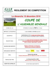 COUPE DE L'AG 2018