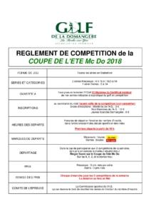 CHAMPIONNAT ÉTÉ TOUR 9 @ Golf de la Domangère | Nesmy | Pays de la Loire | France