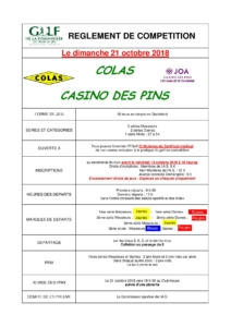 JOA CASINO DES PINS /COLAS