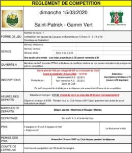 SAINT-PATRICK/LIBOUREAU/GAMM VERT @ Golf de La Domangère | Nesmy | Pays de la Loire | France
