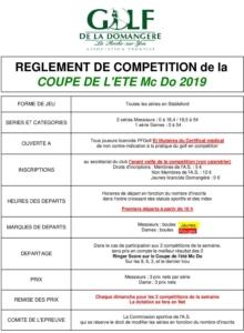 CHAMPIONNAT ÉTÉ TOUR 1 @ Golf de la Domangère | Nesmy | Pays de la Loire | France