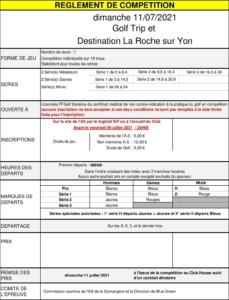 GB GOLF TRIP et SPL DESTINATION LA ROCHE SUR YON @ Golf de La Domangère | Nesmy | Pays de la Loire | France
